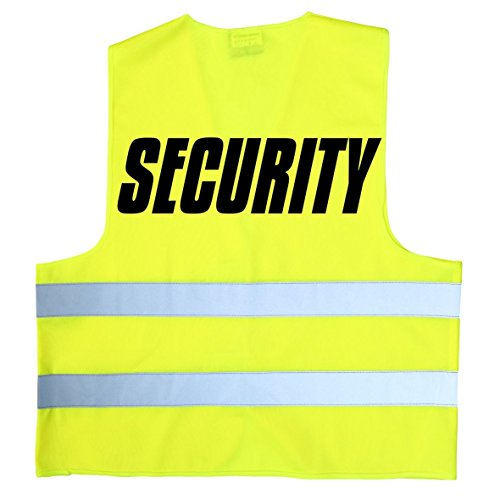 Coole-Fun-T-Shirts Security - Warnweste - gelb Gr.XL