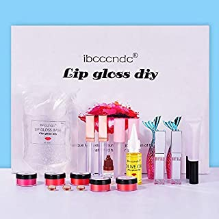 Lip Gloss DIY Making Kit Long Lasting Lip Gloss Base Lip Glaze Tube Safe Handmade Cosmetic Makeup Tools Set