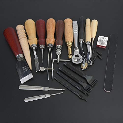 Herramientas de arcilla de cerámica, herramientas de mano de cuero, arcilla de tallado para escultor de bricolaje