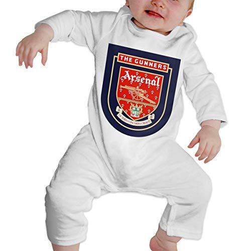 Nyanhif Unisex Baby Round Neck Long Sleeve Jersey Bodysuit Arsenal Fc Old Logo Funny Jumpsuit White 43