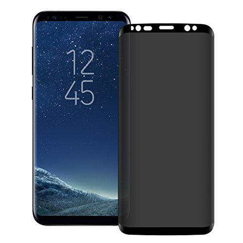 Galaxy S9 Plus /S8 Plus Privacy Screen Protector, Tempered Glass HD Clear [Anti-spy] [9H Hardenss] [Case Friendly] [Easy Installation] Premium Protective Film,For Samsung Galaxy S9 Plus/S8 Plus