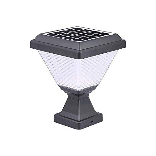 YLLN LED Luz Solar Negra para Adornos para jardín, lámpara de césped de 3 W con IP65 Resistente al Agua, Luces de acrílico para Postes de luz para Postes de Vallas de Madera, Cubierta, Pared Superior