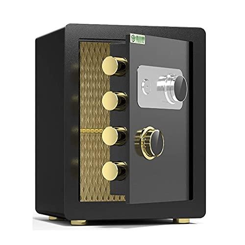KDMB Cajas Fuertes Gabinete de Seguridad de Acero ignífugo y antirrobo para Casas pequeñas, Llave de Bloqueo de contraseña mecánica Caja de Seguridad de Doble protección, 40x36x32cm, 3 Colores