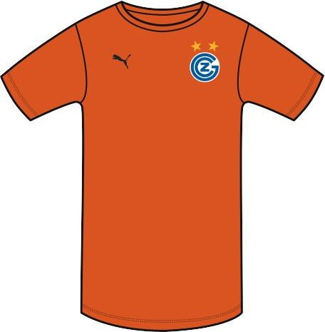 PUMA Herren Trikot GCZ Away Shirt Replica ohne Sponsor Logo, Fluro Orange-Ebony, XL, 924032 01