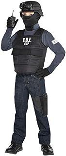 Kids FBI Cop Costume Set, XL (14-16)- 6 pcs.