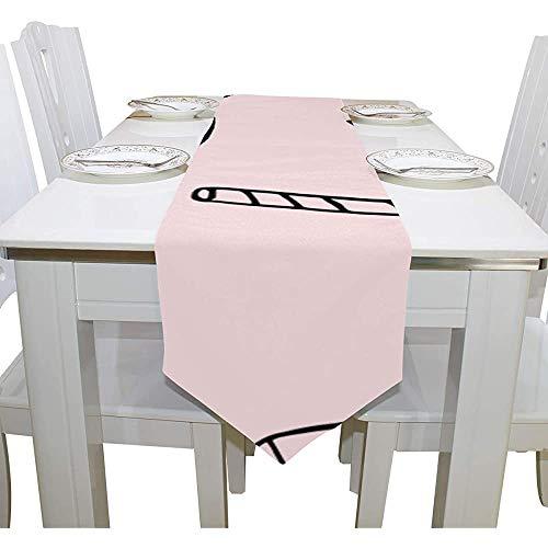 sunnee-shop tafelkleed, melkflesbeker, eenvoudige draagbare anti-slip tafelloper, Farmhouse, tafelkleden voor kamerdecoratie, tafelbladen, 13 x 90IN