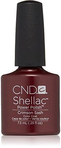 CND - Shellac, Smalto per unghie UV, Crimson Sash, 7 ml