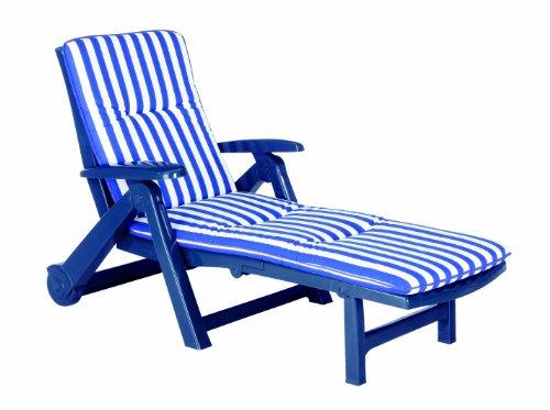 BEST 96406822 Rollliege Charleston inklusive Auflage, D.0268, blau