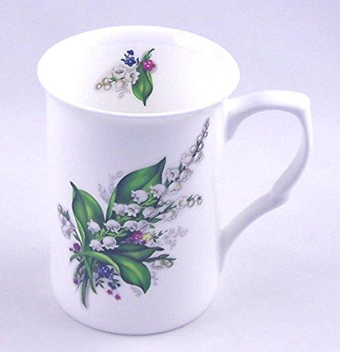 Fine English Bone China Mug - Lily of the Valley Chintz - England