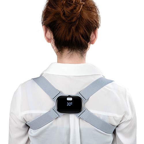 Electronic Posture Corrector, Smart Posture Trainer Reminder Adjustable Back Brace Straightener with Intelligent Sensor Vibration for Kids, Teenagers,Men, Women Improve Posture and Relax Spine