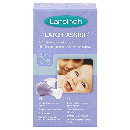 Lansinoh Latch Assist - sanfter Brustwarzenformer - erleichtert das Anlegen des Babys - inkl. Trichter in zwei Größen - BPA frei