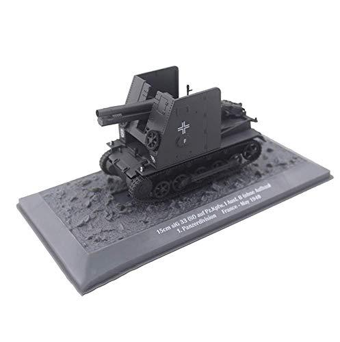 1/43 Scale Diecast Tank Metal Modelo, Panzerkampfwagen III Arma de infantería autopropulsada Ejército alemán, Juguetes Militares y Regalos, 8.3 Pulgadas x 2.6 Pulgadas