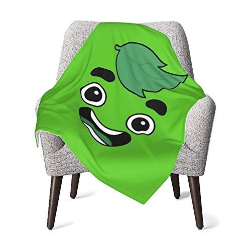 Olverz Manta de bebé con diseño de dibujos animados en color verde, súper suave, manta de recepción, unisex, manta transpirable para recién nacidos, niñas y niños