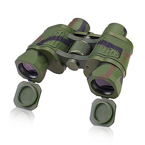 Binoculars 10X42 with Low Light Vision, Folding Durable HD Binoculars with Easy Focus Knob &Texture Grip, Professional Compact Binoculars for Hunting, Travelling,Adventure Concerts,and Sports Watching