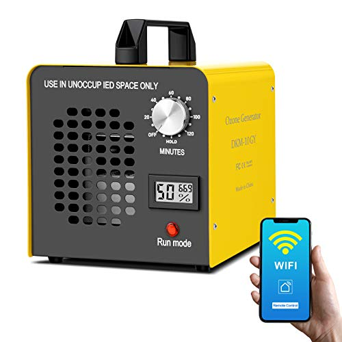 Commercial Ozone Generator 10000mg/h, Remote Control Timing Ozone Machine Odor Eliminator Industrial O3 Ozone ionizer purifiers Air Purifier Deodorizer Ozonator for Rooms, Home, auto, Car and Pet