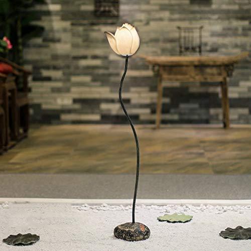 JUNYYANG Lámparas de pie, Led creativo Lotus vertical Lámpara de piso, Habitación Sala simple planta de aterrizaje luz moderna mesa de centro Sofá Decoración Lámpara de piso, Eye-El cuidado de luz ver