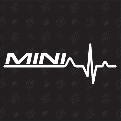 Mini Herzschlag - Sticker für BMW