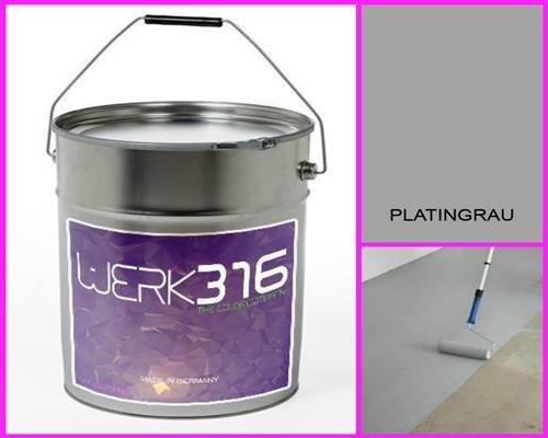 6,75€/l - 20L Bodenbeschichtung Betonfarbe Bodenfarbe Bodenversiegelung Garagenfarbe Platingrau