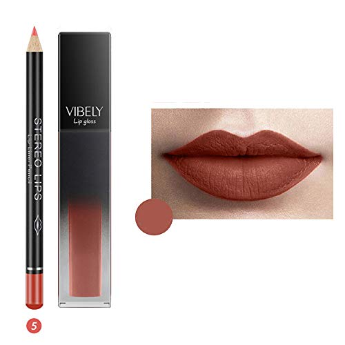 IFOUNDYOU 12 Satz Weinflasche Lipgloss Tint Wasserdicht Lippenstift Farbton, Langlebig Kuss Beweis,...