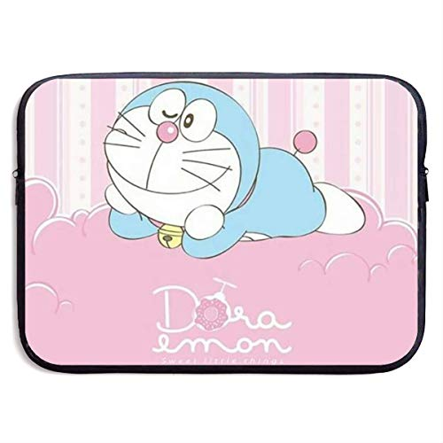 Hdadwy Laptop Sleeve Case Pink Doraemon Waterproof Shock Resistant Bag Case for MacBook Pro/MacBook Air/Notebook Computer