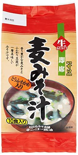 [キンコー醤油] 即席 みそ汁 (麦味噌/甘口) 10食入り×2個 豆腐・若布・ネギ入り