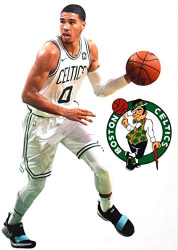 Jayson Tatum Mini Graphic + Boston Celtics Logo Official NBA Vinyl Wall Graphics - This Graphic is 7' INCHES Tall