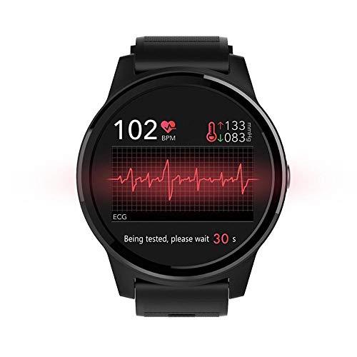 Huangyung - Reloj deportivo multifunción con frecuencia cardíaca, presión arterial, color negro