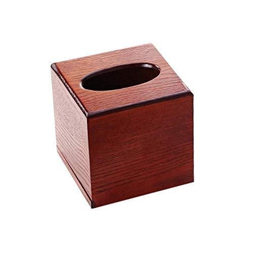 LIUJUAN Caja De Pañuelos Rubik Caja De Pañuelos De Madera Escritorio Sala De Estar Bandeja De Papel Caja De Almacenamiento De Papel-13X13X13Cm B_China