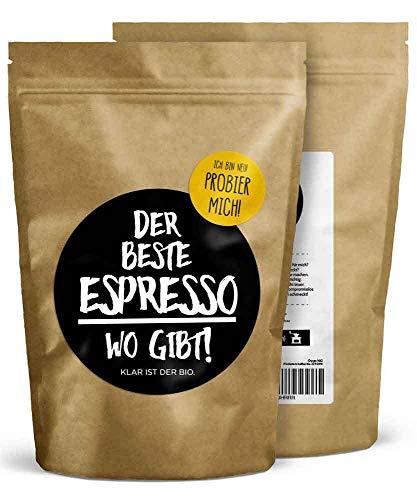 DER BESTE ESPRESSO WO GIBT! - 250g (gemahlen) - Premium Bio Espresso - Fairtrade & Organic - Perfekte Crema - vollmundig im Geschmack - FRISCHE RÖSTUNG