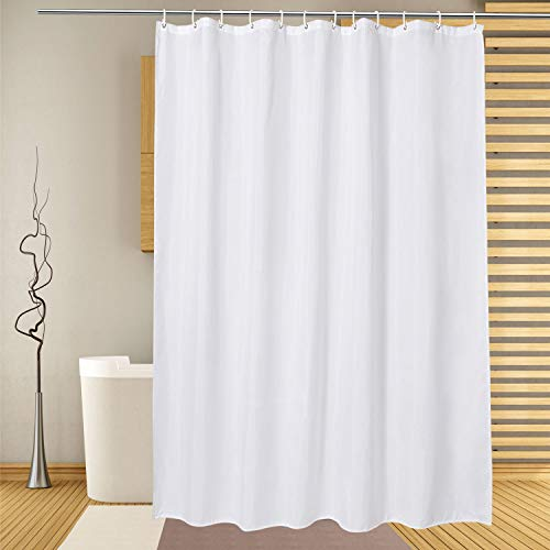 White Shower Curtain Liner 72 x 78 inches,Water Repellent...