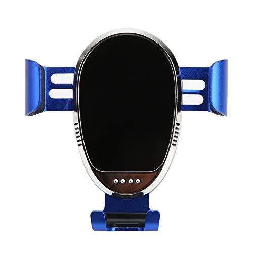 Soporte para Teléfono, Soporte Universal 360 Grados Triángulo Giratorio Gravity Car Air Outlet Soporte para Teléfono para Teléfono Móvil Azul Talla única