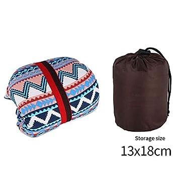 2pcs Portable Camping oreiller style ethnique Tente légère oreiller mou Camping oreiller Voyage Coussin pour la plage Bain de soleil Bain de soleil Randonnée pédestre - Accessoire pour Travelling