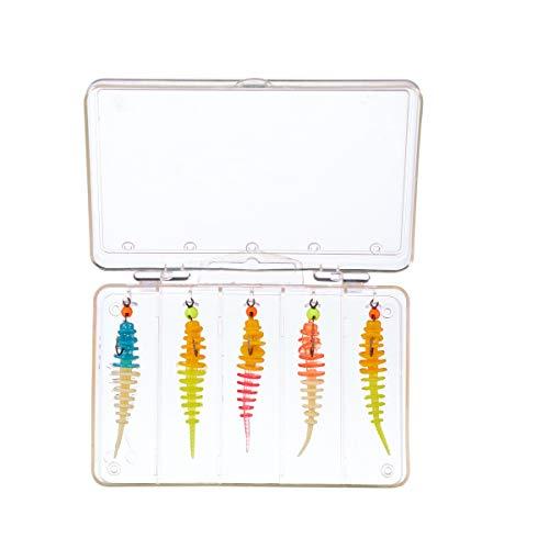Balzer Trout Collector Ready to Fish Mix 3 Set - 5 montierte Gummijigs zum Spinnfischen auf Forellen, Forellenjigs zum Ultra Light Fischen, Gummiköder zum Forellenfischen