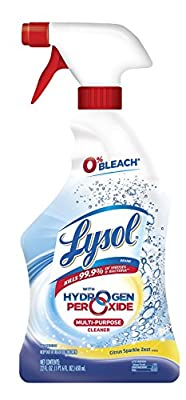 Lysol Power and Free Multi-Purpose Cleaner With Hydrogen Peroxide Citrus Sparkel Zest Scent, 22 Ounce