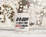 N\A Marvel Endgame Daddy Ti Amo 3000 Ispirato Tazza Tony Stark Iron Man Cup Father 's Day Gift Dad Presente Regalo Personalizzato con NAM