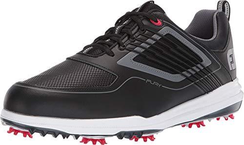 Footjoy Herren Fury Golfschuhe, Schwarz (Negro/Rojo 51103m), 43 EU