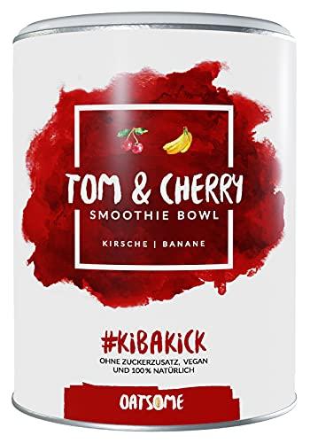 Oatsome Smoothie Bowl Kirsch & Banane - Frühstück Pulver für vegane Ernährung - 1min Zubereitung - 100% natürlich, ohne Zusatzstoffe und raffinierten Zucker (Tom & Cherry, 400g)
