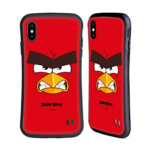 Head Hülle Designs Offiziell Offizielle Angry Birds Red Volles Gesicht Hybride Handyhülle Hülle Huelle kompatibel mit Apple iPhone XS Max
