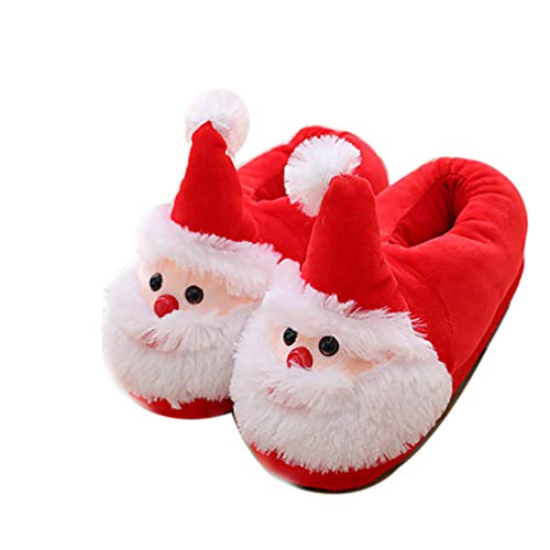 ELE GENS Damen Herren Weihnachtshausschuhe Hausschuhe Pantoffeln Slipper Hauspantoffeln Weihnachten Winter (35-39, A)