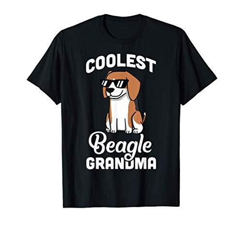 Coolest Beagle Grandma Perro Camiseta