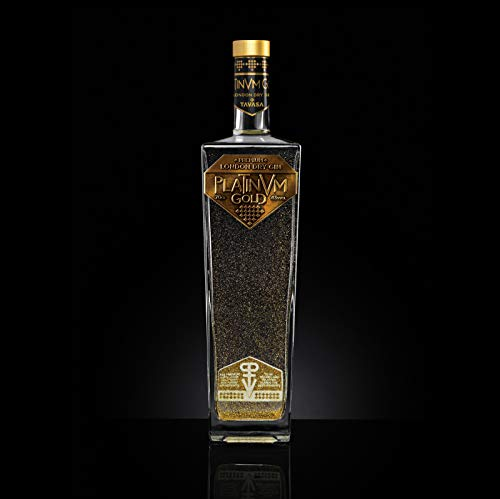 London Dry Gin Platinvm Gold con oro - ideal regalo Navidad, cumpleaños, día del padre, aniversario, san valentin, él