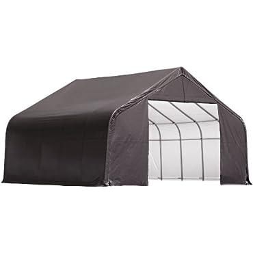 ShelterLogic 86047 Garage 28 x 24 x 16 Peak Standard Grey