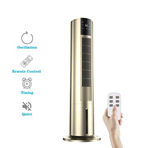 Climatiseur Mobile, Climatiseur Portable Silencieux Clim Sans Evacuation Rafraichisseur D'air Convient pour Chambre à Coucher, Salon, Bureau et Extérieur, 110x32cm, Blanc, LZX105ZXL (Color : Gold)