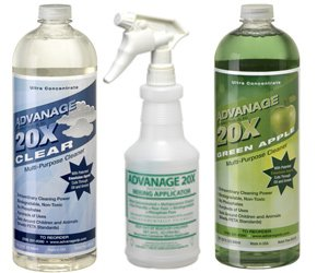 ADVANAGE 20X Multi-Purpose Cleaner Clear & Green Apple 2 Pack - Manufacturer Direct - Our Newest Formula!