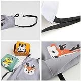 Lindong Süß Tier Schürze mit Tasche für Erwachsene Kinder Wasserdicht Baumwolle Leinen Küchenschürze Latzschürze Kochschürze Kinder Grau Reh - 2