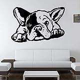 Adhesivo de pared de perro Bulldog francés, adhesivo de vinilo autoadhesivo para pared, animales de moda, dormitorio infantil, guardería, regalos para fiesta de cumpleaños