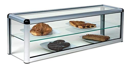 Vitrina expositora alimentos, ideal barra bar para los aperitivos, largo 1.200 mm. 2 pisos