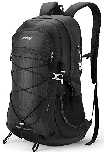 HMOIEE Lightweight Hiking Backpack, 45L Camping Daypack Travel Bag Waterproof