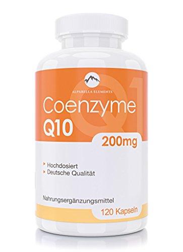 Coenzyme Q10-100% VEGAN et HAUTEMENT DOSÉ - 200mg de Coq10 par Capsule - 120 Gélules MADE IN GERMANY