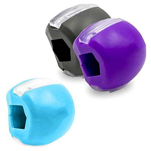 NMSLL Kieferlinien-Übungsgerät, Kiefer-Übungsgerät Hals- / Gesichtston-Kiefer-Übungsball für die Gesichtsstraffung des Halses 3 Color